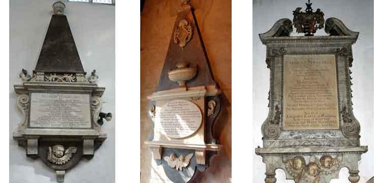 Strip of 3 memorials by John Ivory
