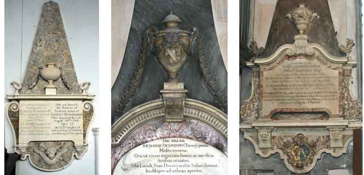 strip of 3 example monuments by Rawlings